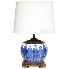Chinese Porcelain Bowl Fitted as a Lamp