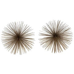 Pair of Small Pom Pom Wall Sculptures by Curtis Jere