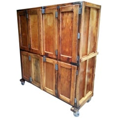Antique French Bakery Cabinet or Locker Unit
