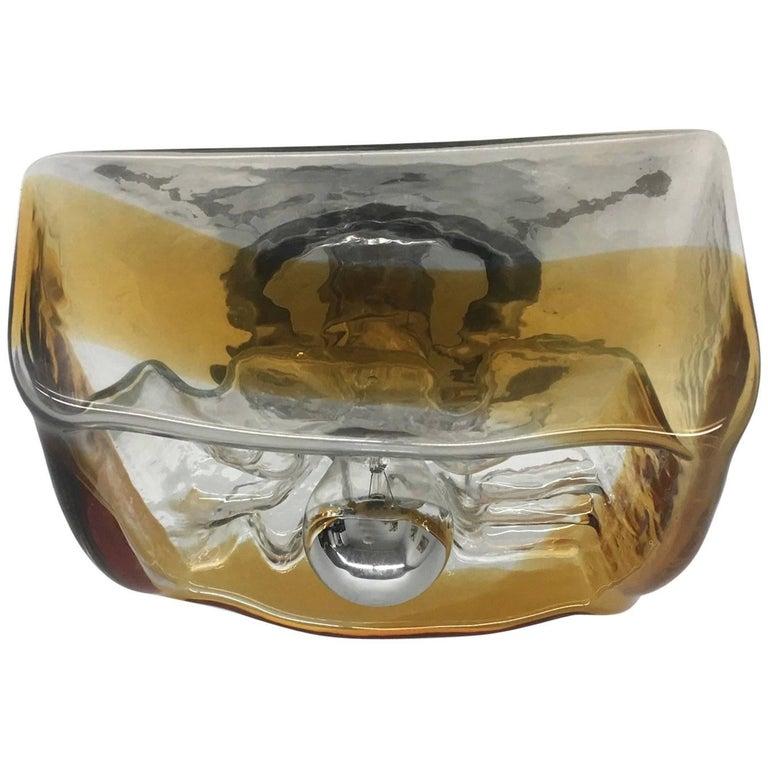Kaiser Sconce or Ceiling Fixture Flush Mount Murano Glass