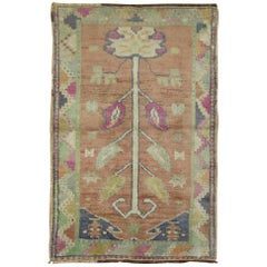 Vintage Turkish Oushak Anatolian Prayer Rug