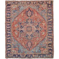 Antique Persian Large Heriz Carpet or Rug
