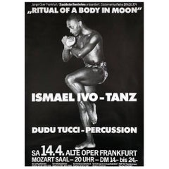 "Original Poster ""Ismael Ivo, Ritual of a Body in Moon"", 1980s"