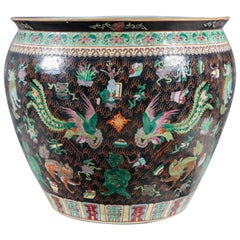 1930s Palace-Size Chinese Porcelain Center Bowl