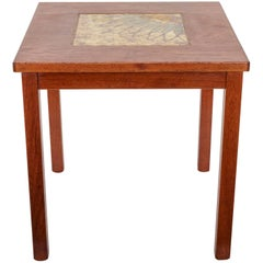 Danish Modern Side Table with Tile Insert, Mobelfabriken Willy ApS