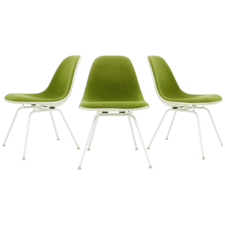 Eames Side Chair set of three charles and eames side chair with h low base for