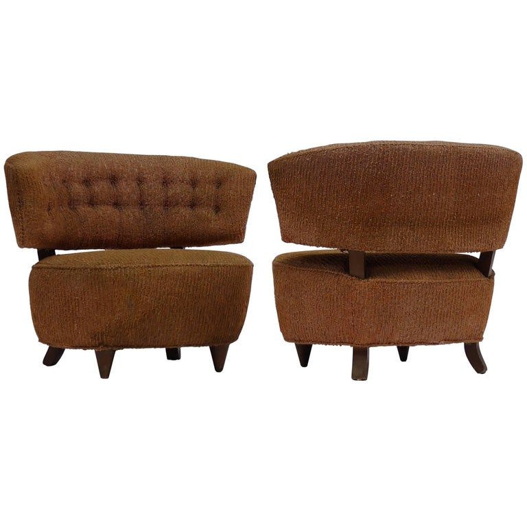 Pair of Gilbert Rohde Slipper Lounge Chairs