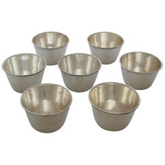 Tane Sterling Silver Set of Seven Modernist Cups