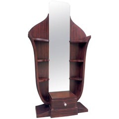 French Art Deco Psyche Mirror Stand