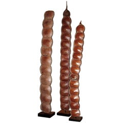 Tall Bean Pod Rattle on a Stand