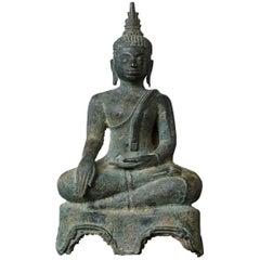 Possibly 15th/16th Century Bronze Thai Buddha Statue
