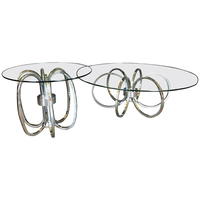 Gorgeous Milo Baughman Style Cocktail and End Table Set