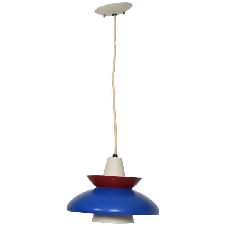American Mid-Century Modern Pendant Light Sculptural Shape