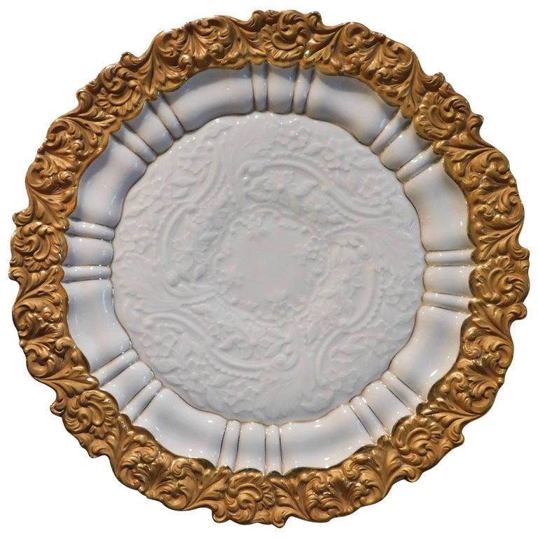 19th Century Meissen Porcelain Cabinet Plate For Sale