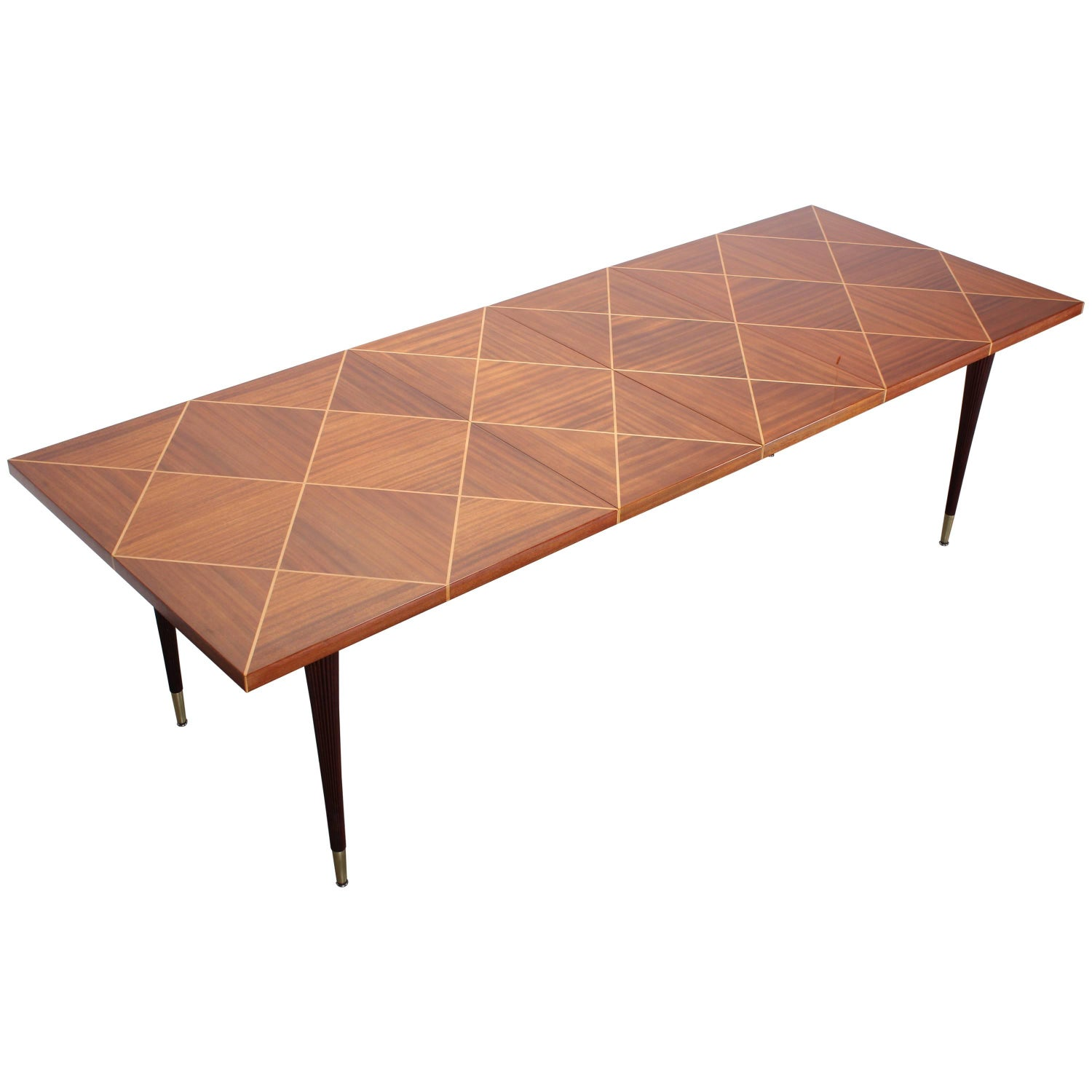 Tommi Parzinger Parquetry Dining Table by Charak 1950s For Sale