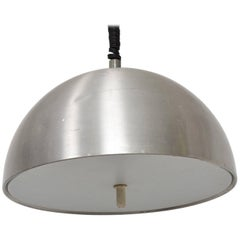 Mid-Century Modern Italian Pendant Light Aluminum Adjustable