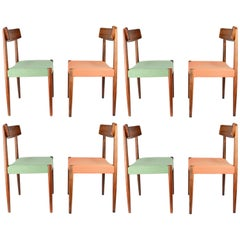 Spectacular Set of Eight Rosewood Chairs by Nils Jonsson for Troeds of Sweden