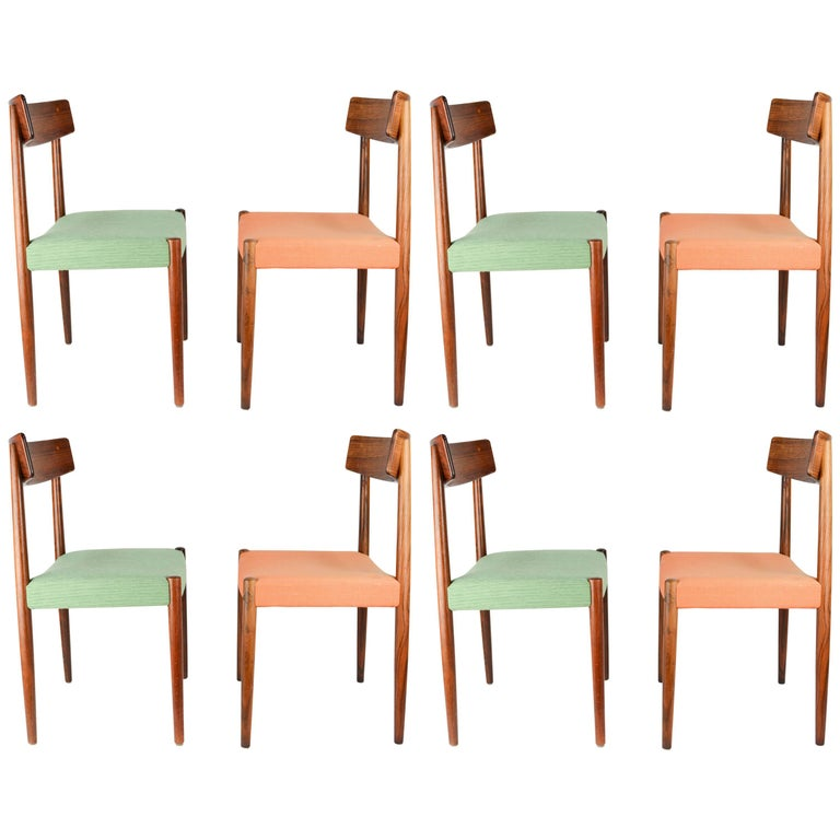 Spectacular Set of Eight Rosewood Chairs by Nils Jonsson for Troeds of Sweden 1