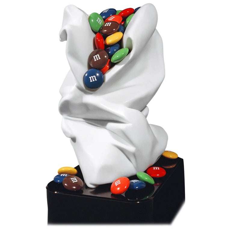 'M & M Bag 1' Stone Sculpture by Robin Antar Marble and Cast Resin