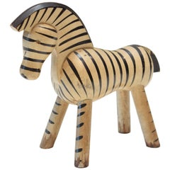 Danish Toy Zebra by Kay Bojesen