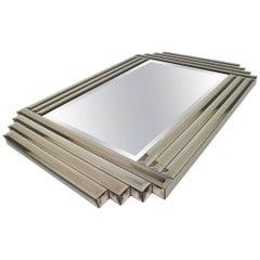 Large Beveled Glass Mirror
