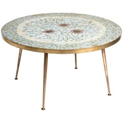 Vintage French Mosaic Table