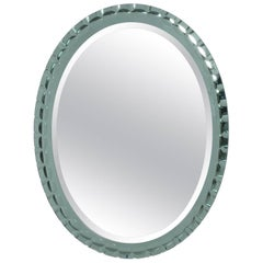 Oval Mirror Attributed to Max Ingrand for Fontana Arte