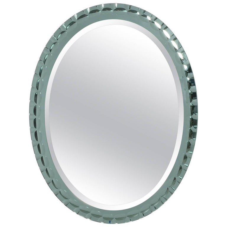 Oval Mirror Attributed to Max Ingrand for Fontana Arte 1