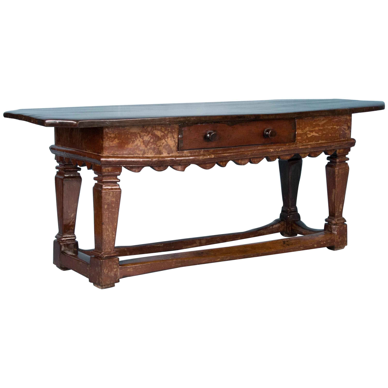 Antique 18th Century Danish Baroque Console Table