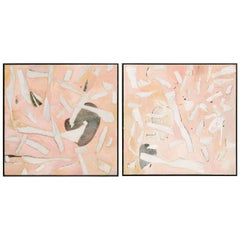 Pair of Modern Abstract Paintings by Deborah Gottlieb