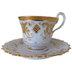 Early 19th Century Meissen Porcelain Cup and Saucer