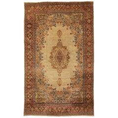 Antique Persian Mahal Rug with Traditional Style