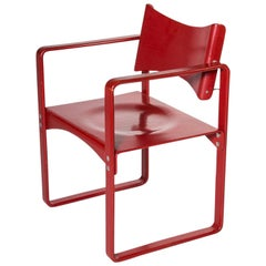 Red Verner Panton No. 271 Dining Chair for Thonet, Germany, circa 1970