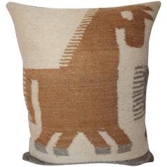 Indian Weaving Folky Horse Pillow