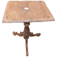 Andrianna Shamaris Antique Teak Wood Colonial Side Table