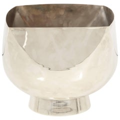 Ward Bennett Silver Plate Bowl Signed USA, 1970s