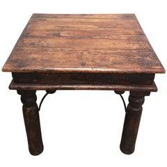 Vintage Handcrafted Teak Side Table, India