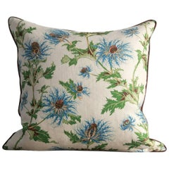 NK Collection Linen Thistle Pillow