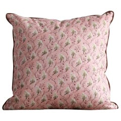 NK Collection Dusty Pink with Green Leaves Pillow