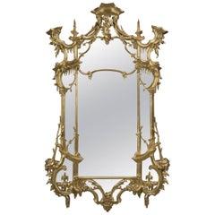George III Style Giltwood Mirror, English, circa 1870