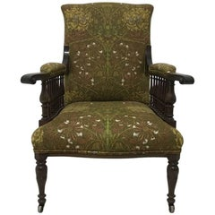 Mahogany Saville Armchair for Morris & Co Designed by George W Jack