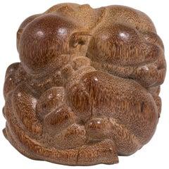 Small Carved Palm Wood Yogi Man Balinese