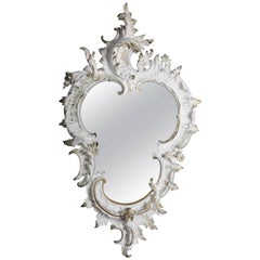 19th Century Richly Decorated Rococo Wall Mirror, circa 1870