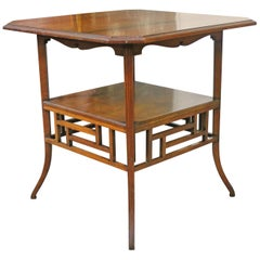E W Godwin, Anglo-Japanese Mahogany Side Table Probably Made by Collinson & Lock