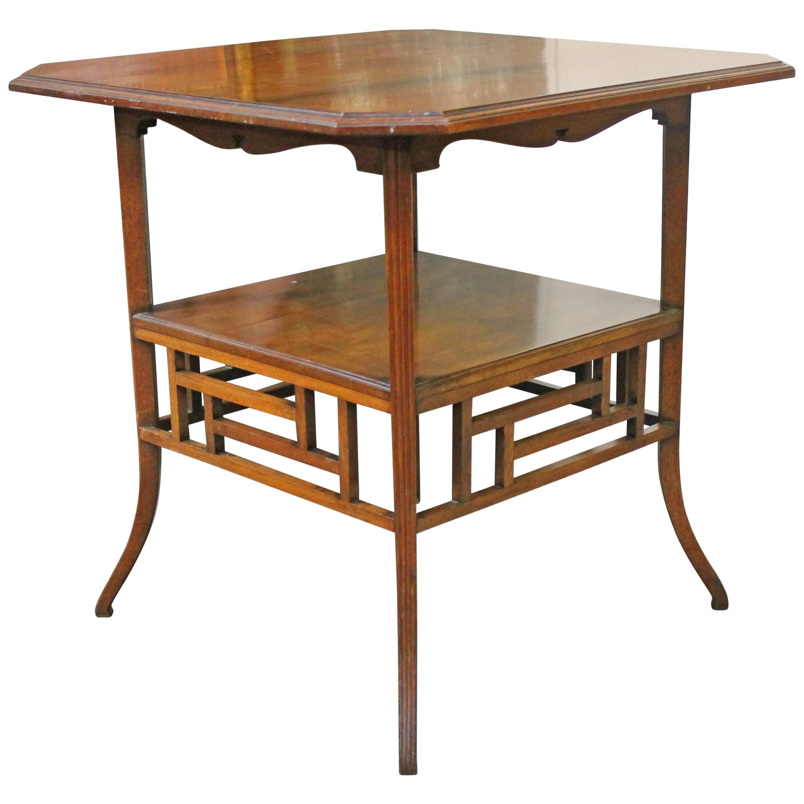 E W Godwin, Anglo Japanese Mahogany Side Table Probably Made By Collinson U0026  Lock 1