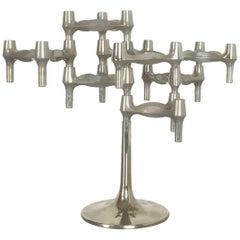 Vintage 1970s BMF Nagel Candleholder Sculpture Designed by Caesar Stoffi, 1960s