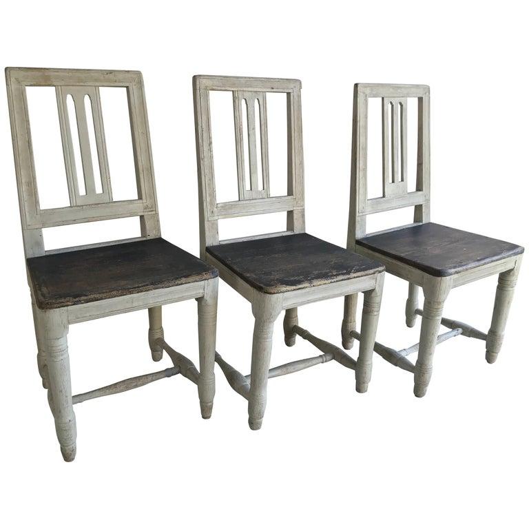 Three 19th Century Swedish Chairs