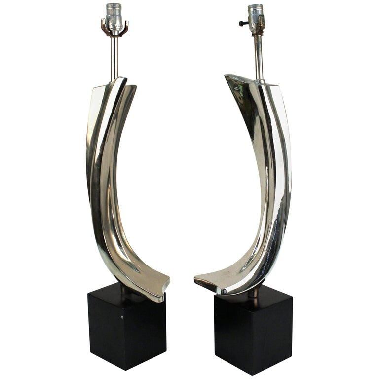 Pair of Table Lamps by Maurizio Tempestini for Laurel Lamps