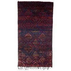 Excellent Vintage Moroccan Beni Mguild Rug 6x10.8