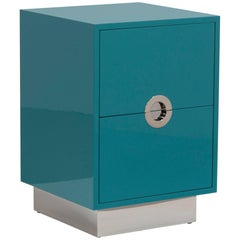 Lacquered Porthole Bedside Cabinet by Talisman Bespoke